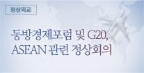 동방경제포럼 및 G20, ASEAN 관련 정상회의